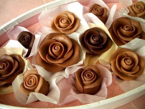 Розочки из шоколада своими руками